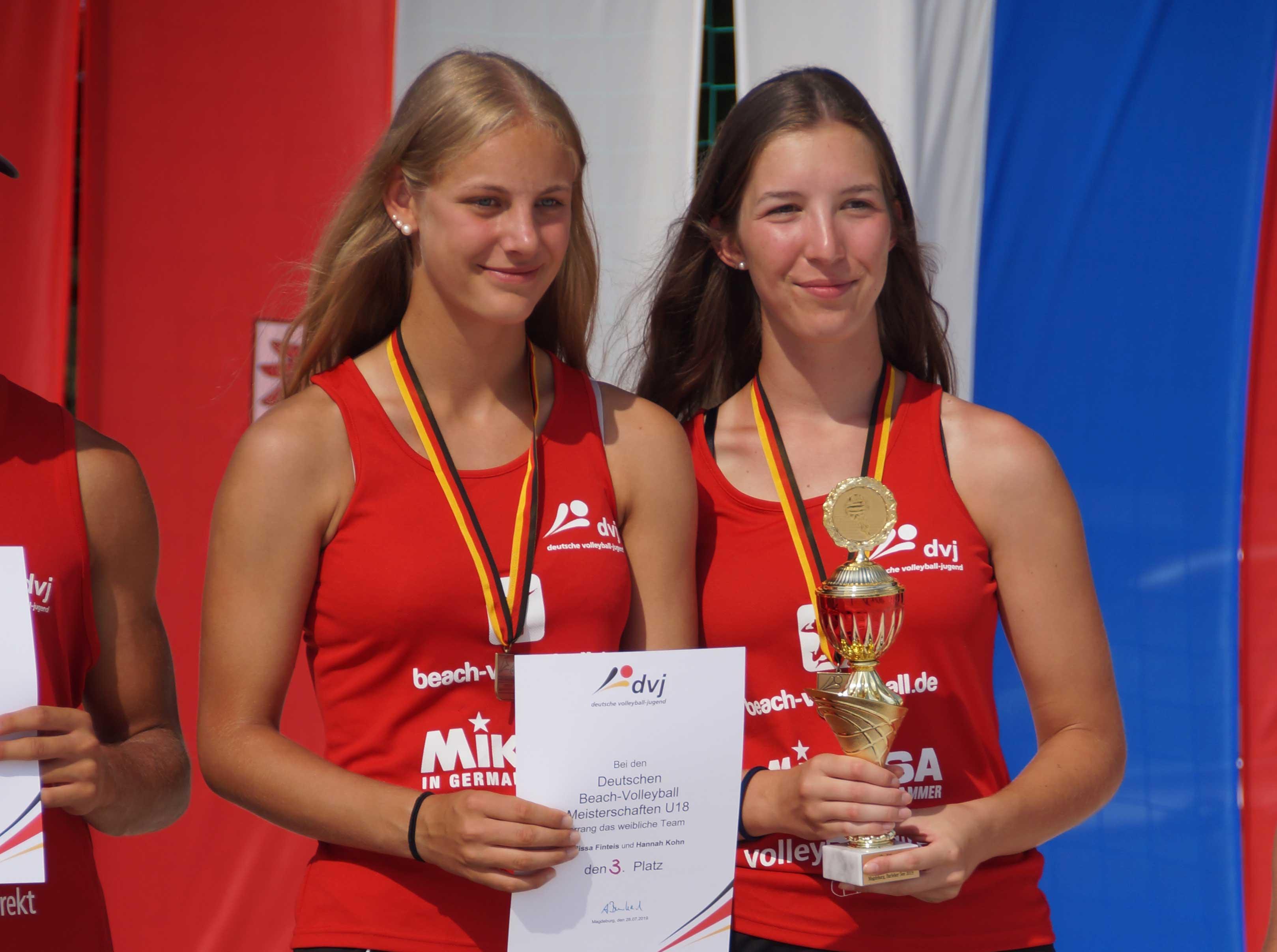 Deutsche Beach Meisterschaften, die Gewinner von Platz 3