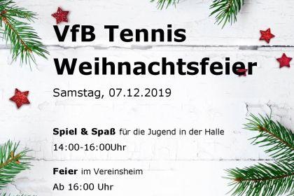 Weihnachtsfeier Tennisabteilung …