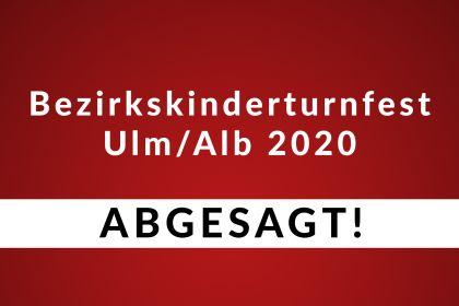Absage des Bezirkskinderturnfestes 2020 beim VfB Ulm …
