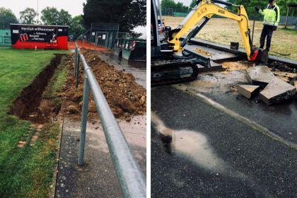 Bauarbeiten zur Erweiterung der Bewässerungsanlage gestartet …