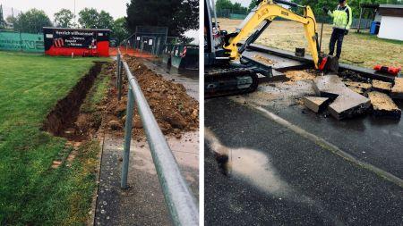 Bauarbeiten zur Erweiterung der Bewässerungsanlage …