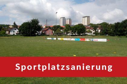 Sanierung der Sportplätze am Weinbergweg …