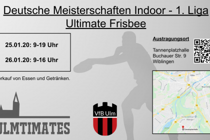 Frisbee DM 1. Liga Open Indoor in Ulm! …