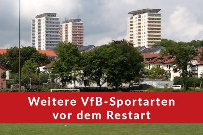 Weitere VfB-Sportarten vor Restart …